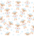 Cute cartoon sheep seamless texture Children s vector image