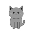 Cute gray cartoon cat Mustache whisker Funny vector image vector image