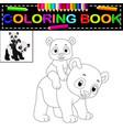 cute happy panda coloring book vector image vector image