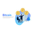 flat bitcoin online mining concept web vector image