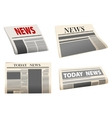 Folded newspaper icons vector image vector image