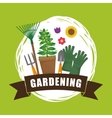Gardening design Botany icon Flat vector image vector image