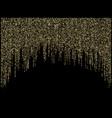 garland lights gold glitter hanging vertical lines vector image