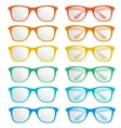glasses color set vector image vector image