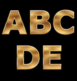 Gold letters set a-e vector | Price: 1 Credit (USD $1)