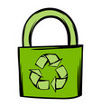 green eco bag icon cartoon vector image vector image