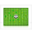 green playing field 10 v vector image vector image