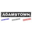 grunge adamstown textured rectangle stamps vector image vector image