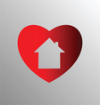 Heart with house vector image vector image
