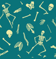 human skeleton seamless pattern vector image vector image