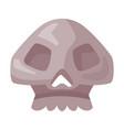 human skull bone happy halloween object cartoon vector image vector image