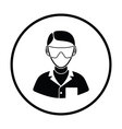 Icon of chemist in eyewear vector image vector image