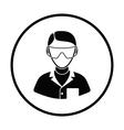 Icon of chemist in eyewear vector image vector image