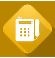 icon of Payphone with a long shadow vector image vector image