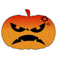 isolated halloween pumkin vector image