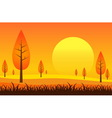landscape and sunset vector image