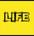 life text grunge yellow background vector image vector image