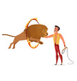 lion tamer flat color isolated vector image vector image