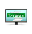live webinar concept educational training program vector image