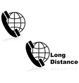 Long distance call vector image vector image