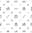 measure icons pattern seamless white background vector image vector image