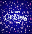 merry Christmas greeting card blue background vector image vector image