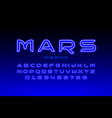 modern space style font vector image vector image