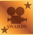 movie awards concept vector image vector image
