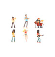 musicians people characters collection musicians vector image vector image