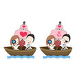 pirate wedding cartoon with sea theme vector image vector image
