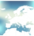 Political Map Of Europe Abstract blurred vector image vector image