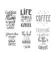 Quote coffee typography set vector image vector image