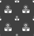 retro photo camera icon sign Seamless pattern on a vector image