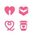 romantic icon designed for your design vector image