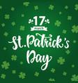 saint patricks day greeting poster vector image vector image