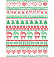 scandinavian nordic christmas seamless pattern vector image