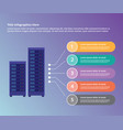 server data center collection infographic vector image vector image