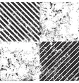 set 4 distressed grunge textures vector image vector image