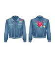 shirt with floral patches set vector image vector image