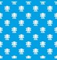 sleeping woman pattern seamless blue vector image vector image