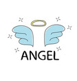 slogan angel print for t-shirt graphics vector image vector image
