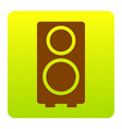 speaker sign brown icon at vector image vector image