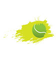 tennis ball icon with an effect vector image vector image