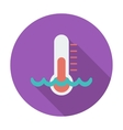 Thermometer flat icon vector image vector image