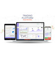 trade exchange app on phone screen vector image