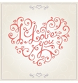 Valentines day congratulations card vector image vector image