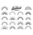 vintage sunburst collection bursting sun rays vector image vector image