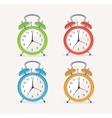 wakeup clocks set Flat Design vector image vector image