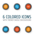 web icons set collection of image unlock estate vector image vector image