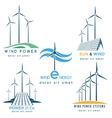 Wind and Sun Power Making Logo vector image